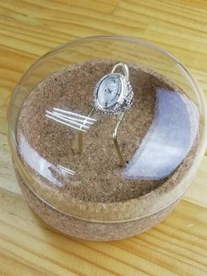 撮影したドームガラスのケースプレゼント♪【ビンテージ時計】1970年代製造 シルバーケース シチズン指輪時計 日本製