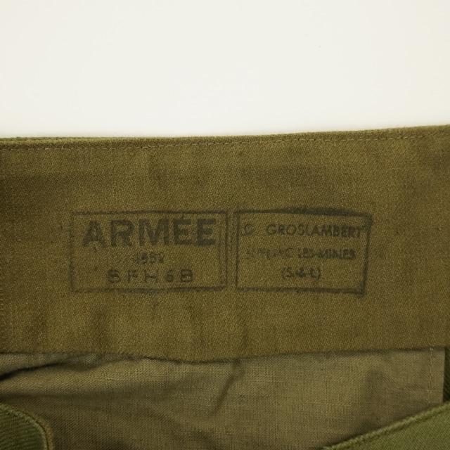 【MADE IN FRANCE】【DEADSTOCK】フランス軍 M47パンツ 前期 / 15サイズ 個体B