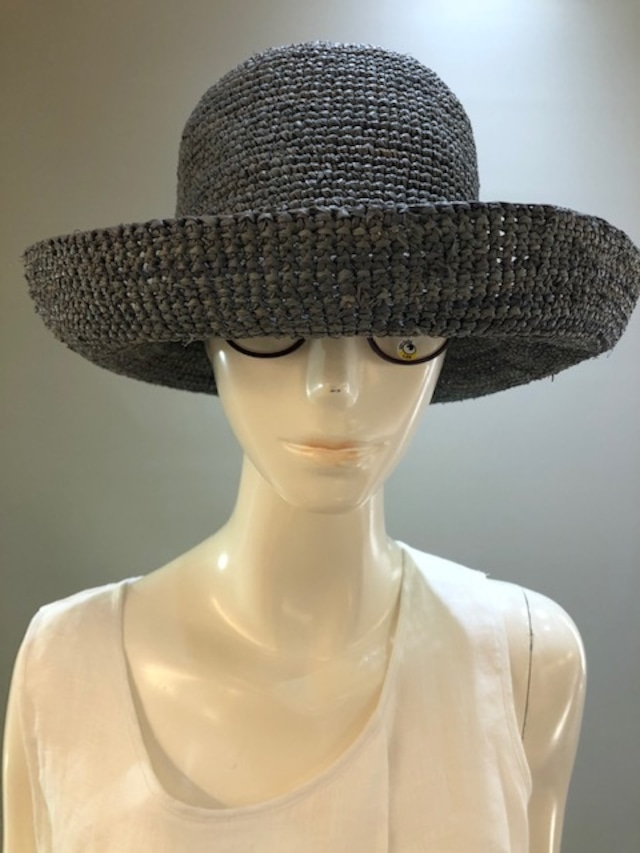 Sans Arcidet (サンアルシデ)FANNY HAT Col.Jeans(BlueGrey) ラフィア定番人気の帽子 マダガスカル製