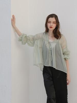 triple shirring blouse 2set(mint)