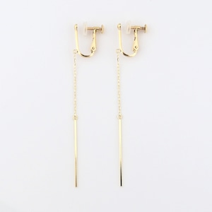 Gold bar earring