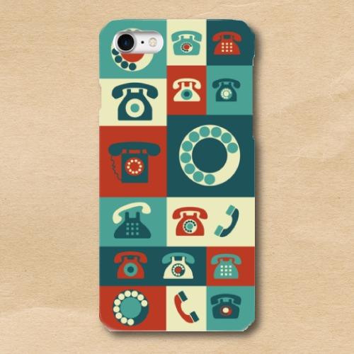 ポスターアート/レトロ/電話/Telephone/iPhoneスマホケース(ハードケース)
