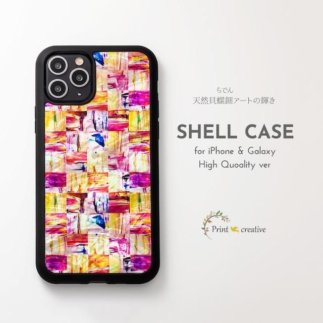 天然貝シェル★ミネラルピンク(iPhone/Galaxyハイクオリティケース)|螺鈿アート|iPhone12 iPhone11 iPhoneSE2 GalaxyS20