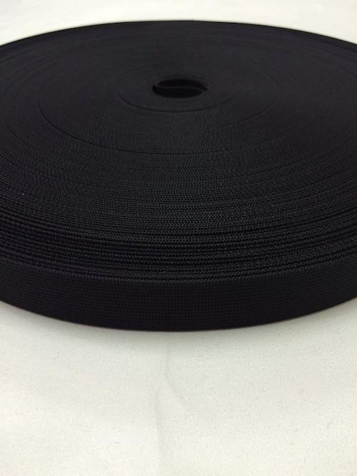 ナイロン ベルト 高密度 20mm幅 1mm厚 黒 10m