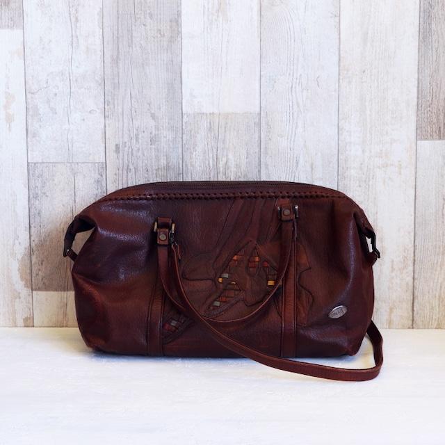【B-58】ブラウンレザー オーダーメイド旅行バッグ