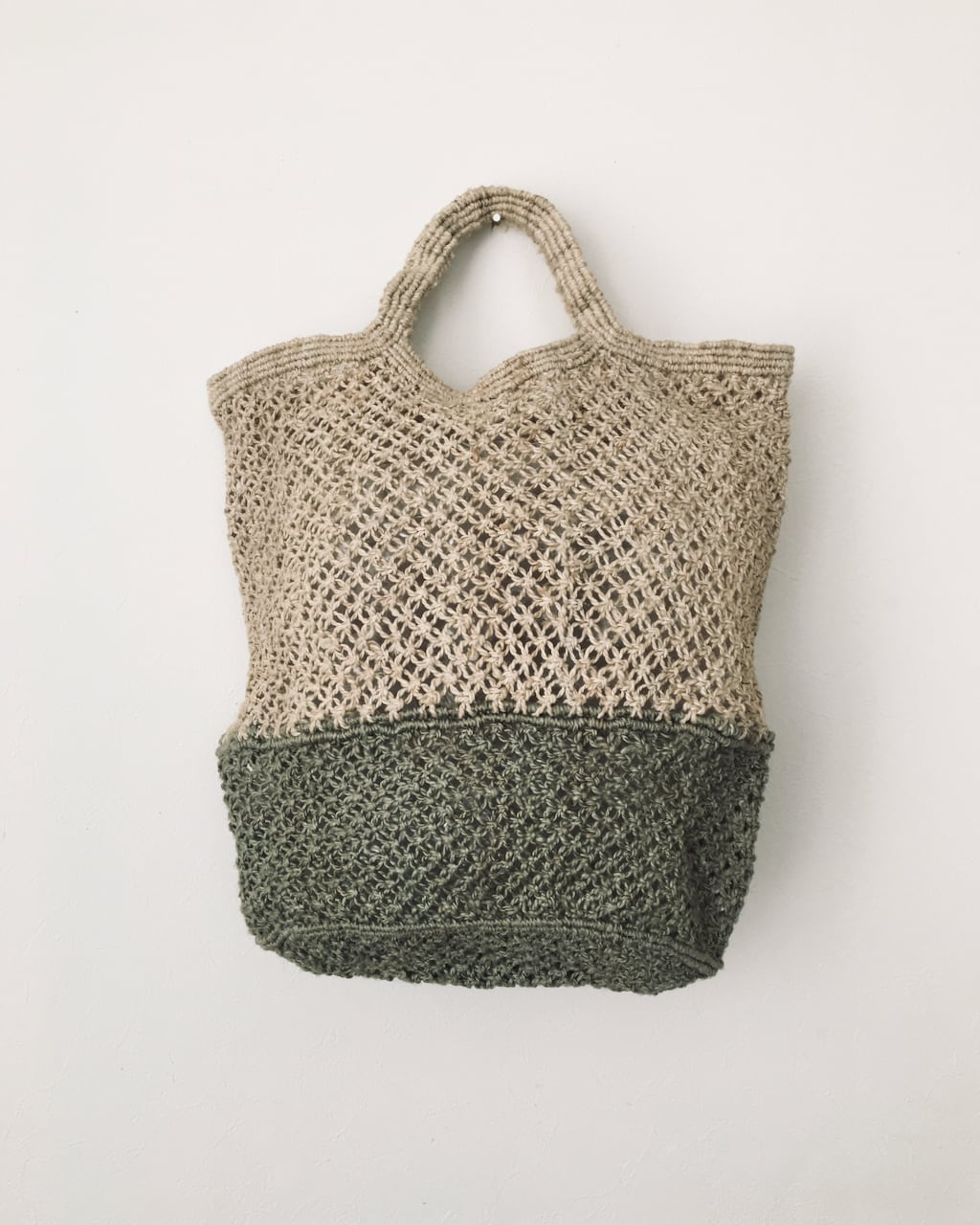 Jute macrame shopping bag Nat/Grey ショッピングバッグ ナチュラル/グレイ