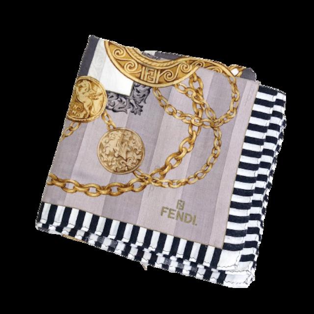 【VINTAGE BRAND SCARF 】FENDI コイン柄 スカーフ  2021-105