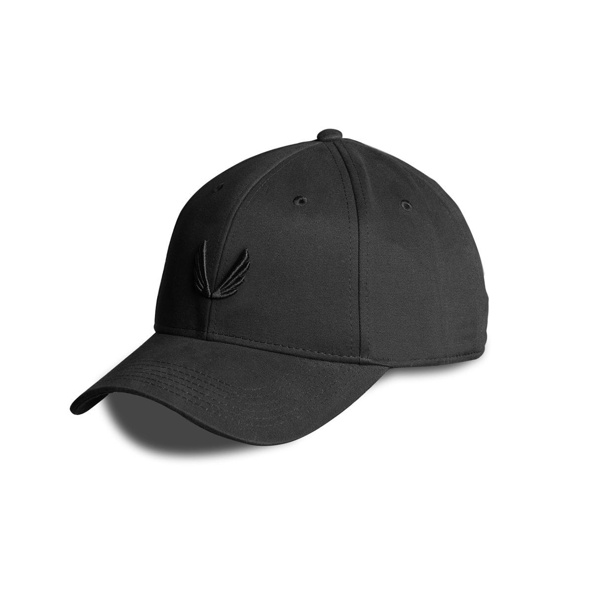 完売御礼【ASRV】ウィング刺繍ロゴキャップ - Black/Black