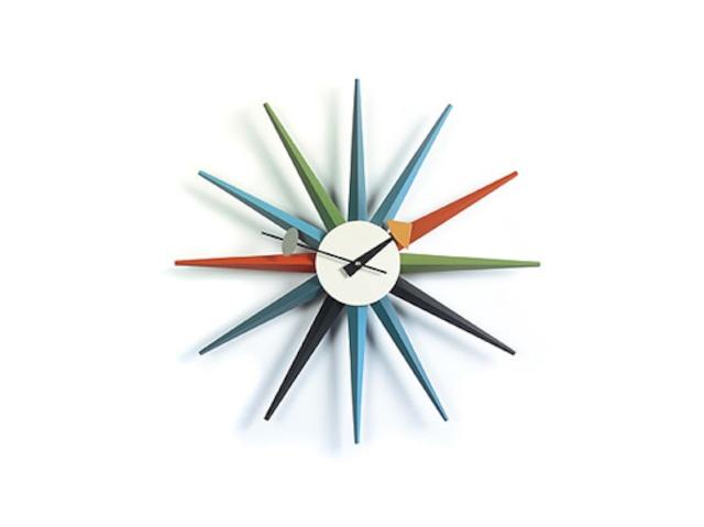 【Vitra Design Museum】Sunburst Clock 【Multi Color】