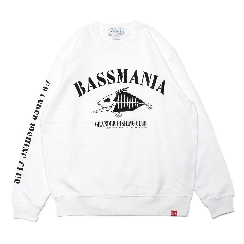 【bassmania×グランダー武蔵】スケルトンデザイントレーナー [WHT]【限定受注生産】