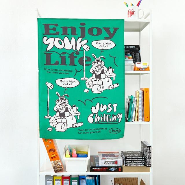 「ENJOY LIFE」ファブリックポスター