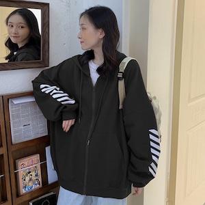 【アウター】韓国系ファッションbfシンプルフード付きジャケット42909304