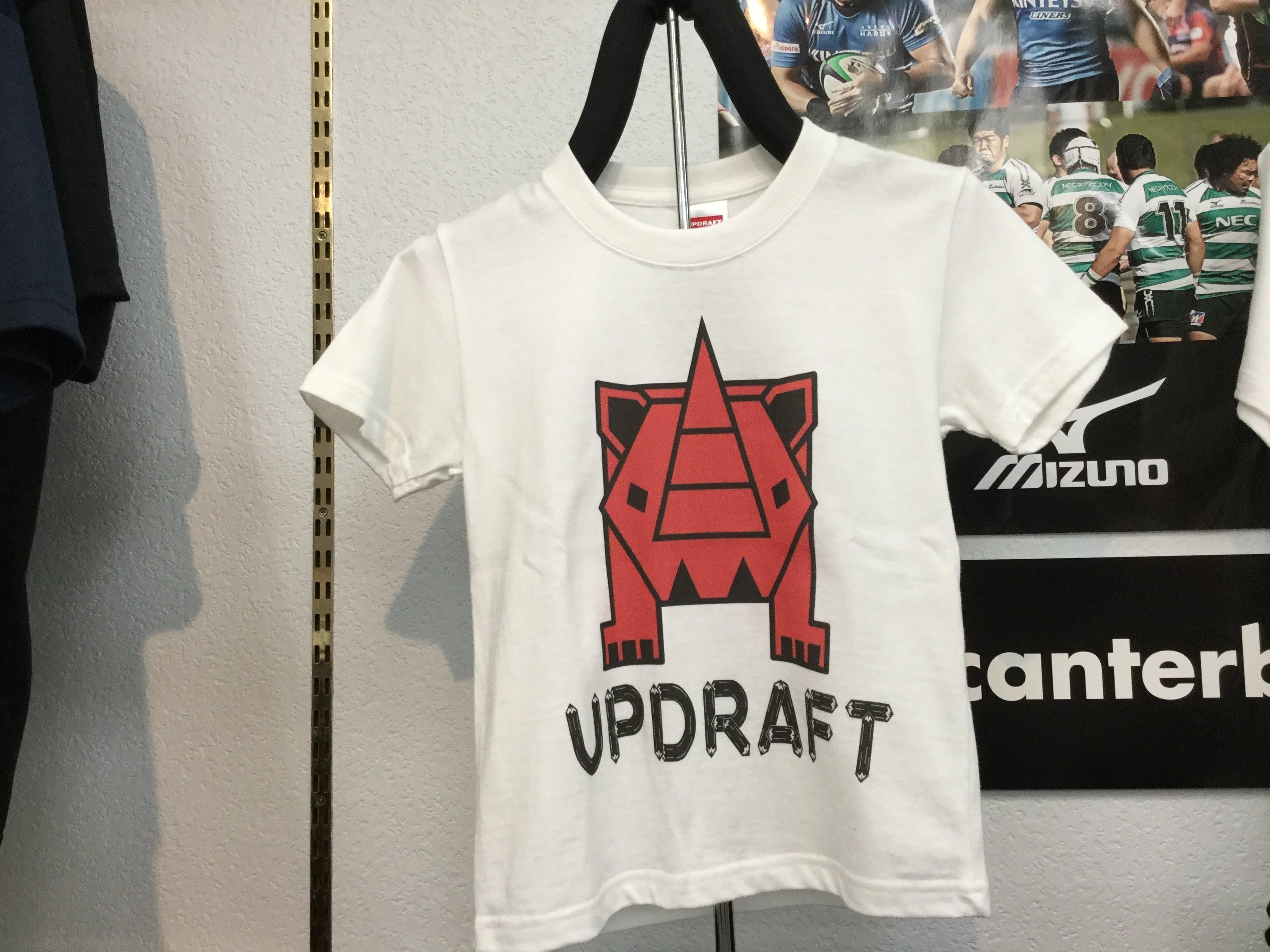 【キッズ】オリジナルサイTシャツ ホワイト×レッド(綿100%)
