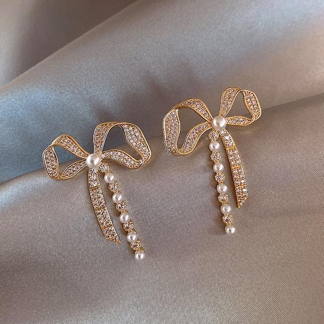 アクセサリー ピアス パール ファッション ジルコン 美人度アップ 幾何模様 魅せられる