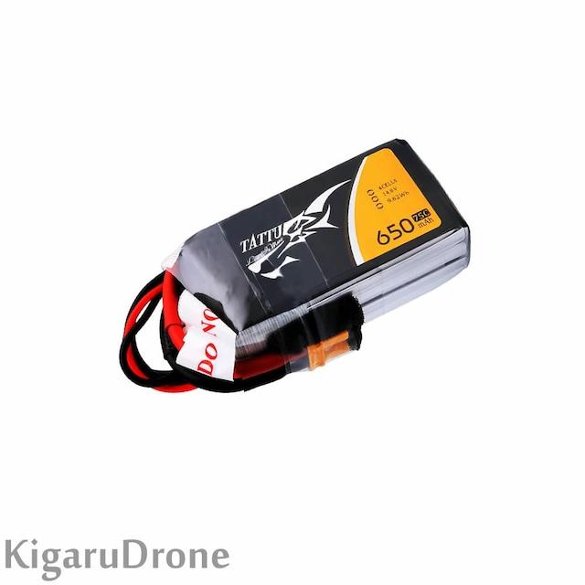 【4S 650mAh】TATTU FPV 650mAh 14.8V 75C 4S Lipo Battery  with XT30コネクター