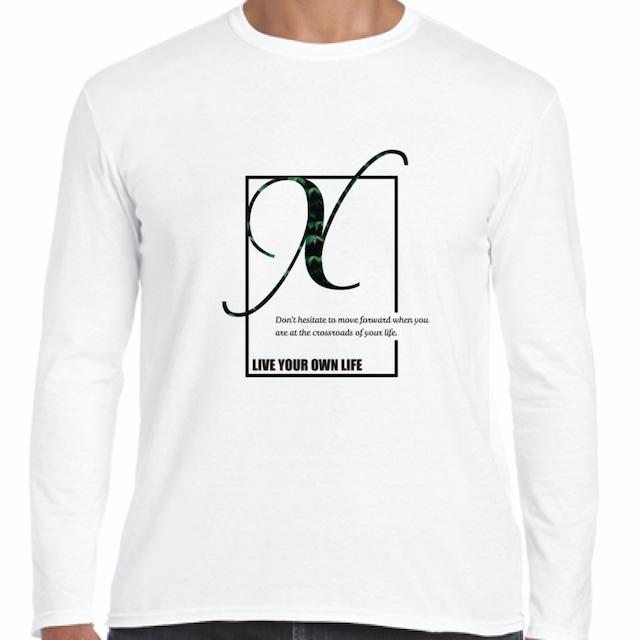 "XCROSS DASH 2020 ORIGINAL DESIGN ""Long sleeve T-shirt"" (WHT) レプリカデザイン長袖Tシャツ"