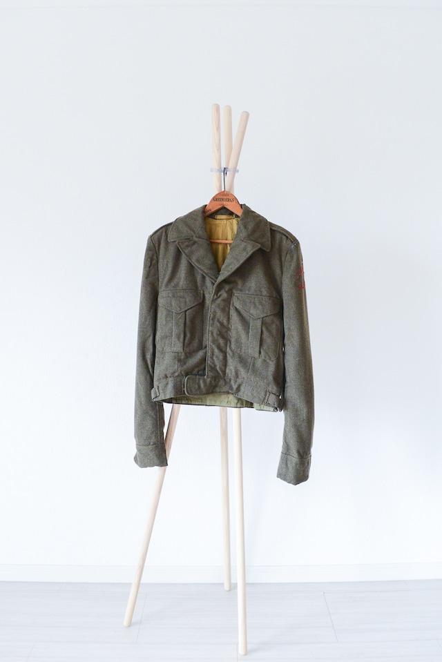 "【1950s】""Canadian Army"" Battle Dress Wool JKT/ v270"