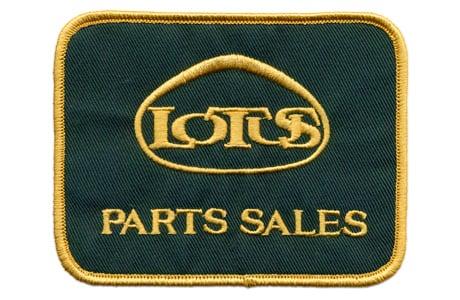 ロータス・PARTS SALES・ロゴ・ワッペン