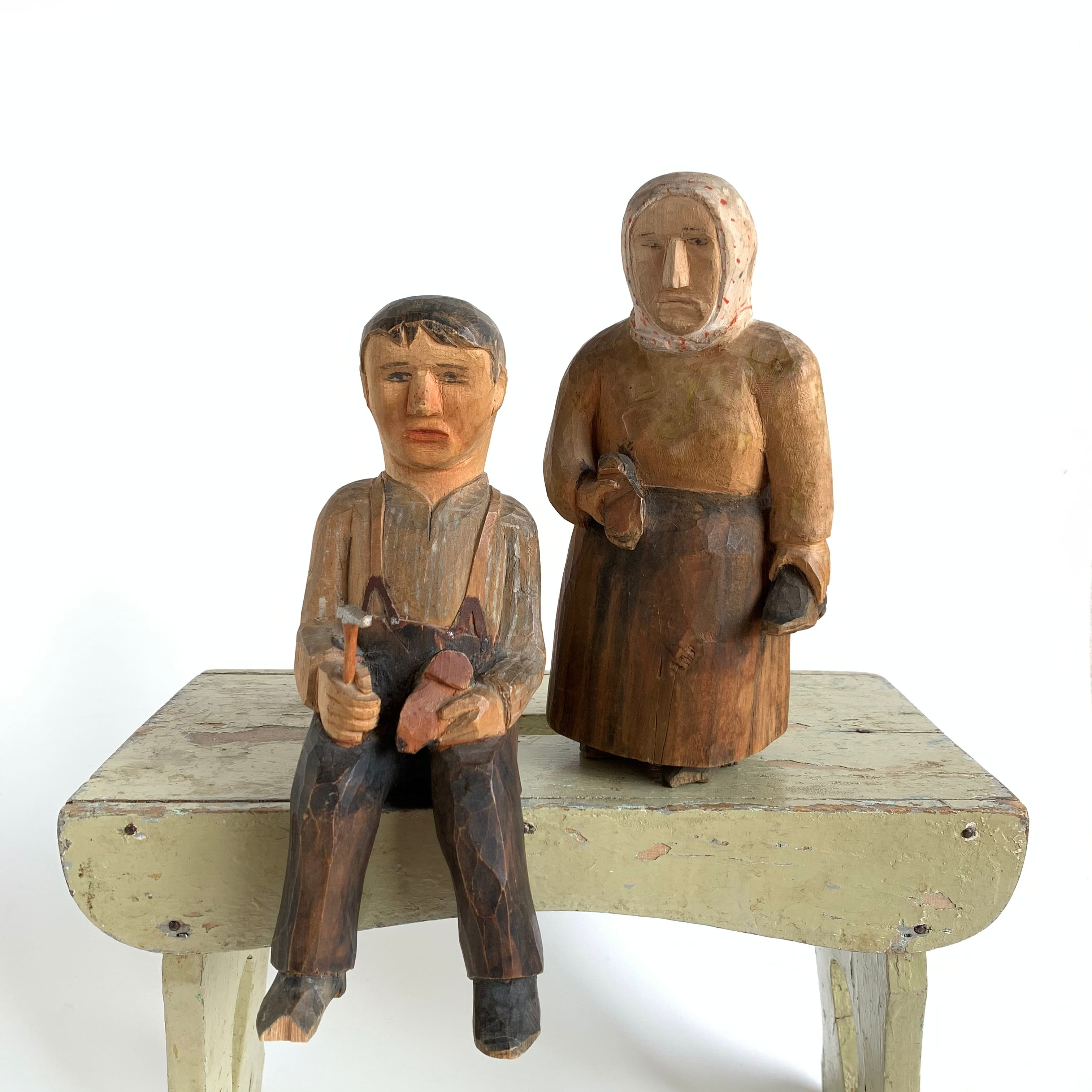 Hand Carved Wooden Figures