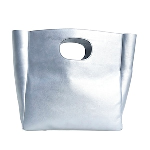 Box Leather Bag/SILVER