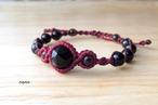 チベット産モリオン(黒水晶)を9粒使用した魔除けブレスレット~ 金属フリー