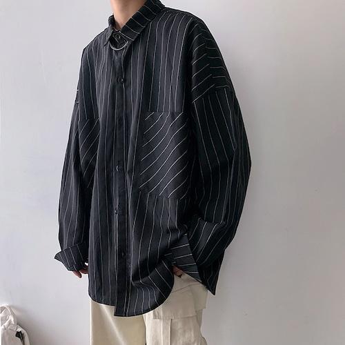 フロントポケットストライプシャツ BL4584