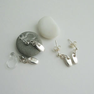 E_007 plate earring(ノンホールイヤリング)/ P007 plate pierced earring