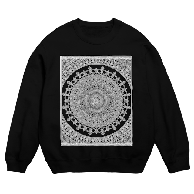 Mandala no.002 スウェットシャツ ブラック