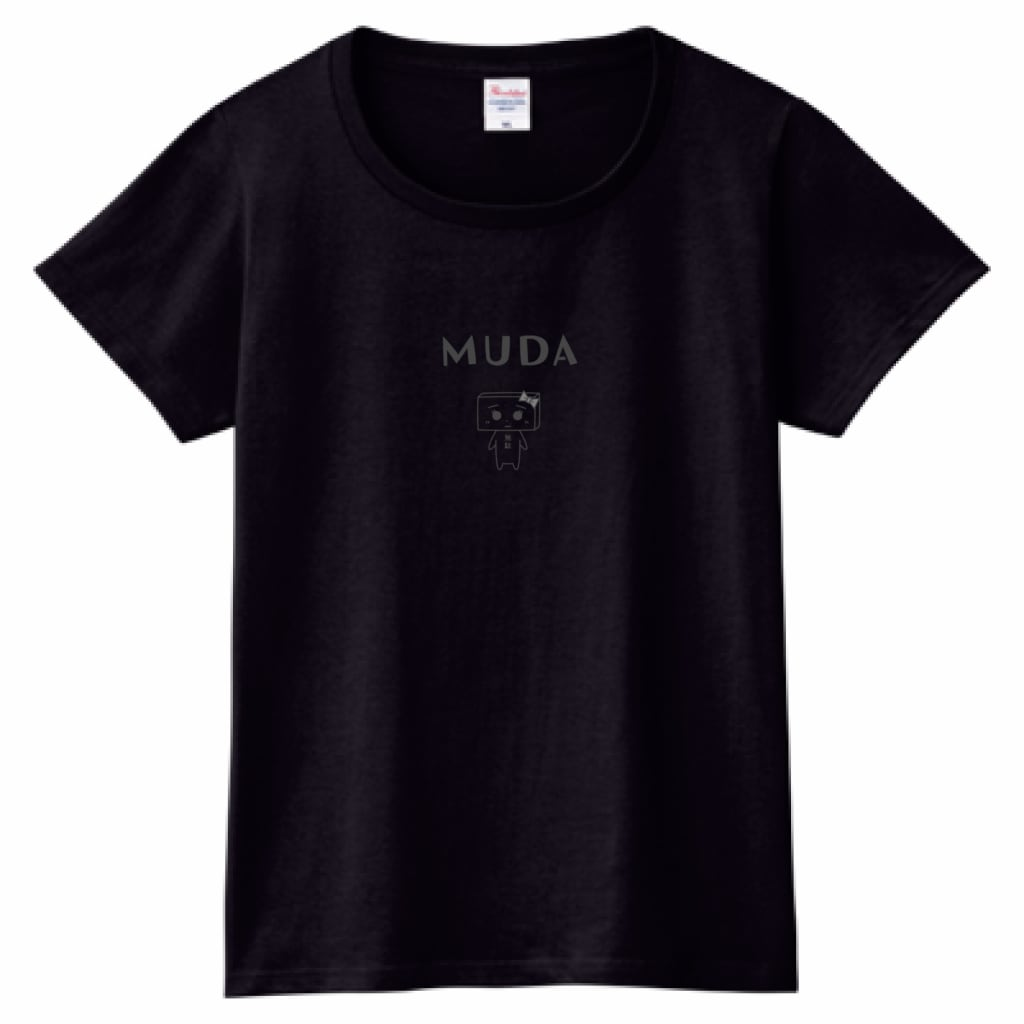 とうふめんたるずTシャツ(もめんちゃん・レディース・黒)