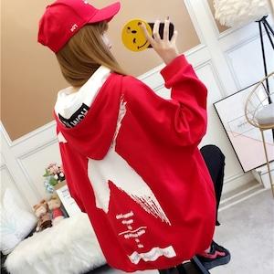 【トップス】長袖図柄プリントファッション人気パーカー42906365