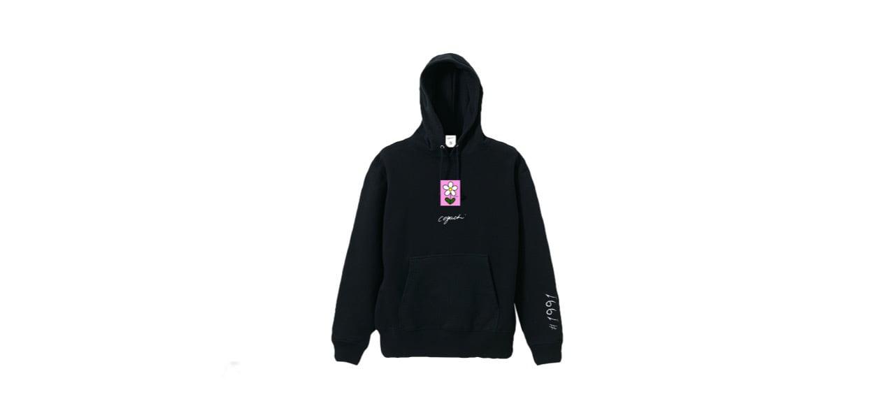 coguchi flower hoodie (BLK)