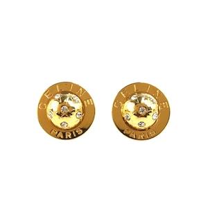 CELINE セリーヌ スターボール ストーン サークル イヤリング ゴールド vintage ヴィンテージ オールド Accessories pr6s5g