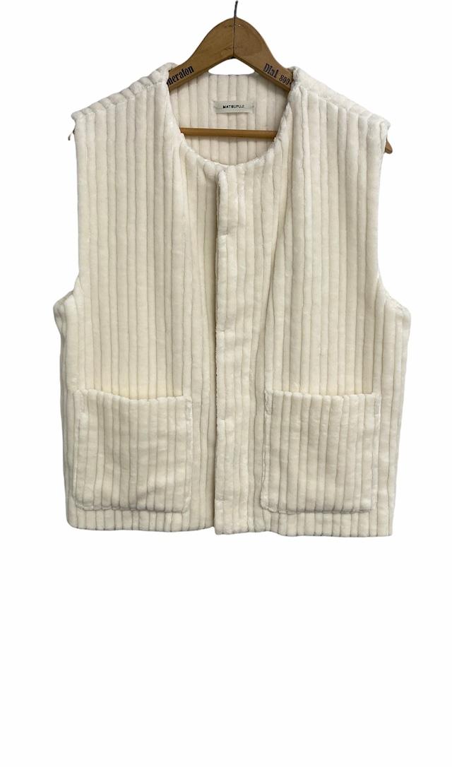 MATSUFUJI / Wide Corduroy Vest(OFF WHITE)