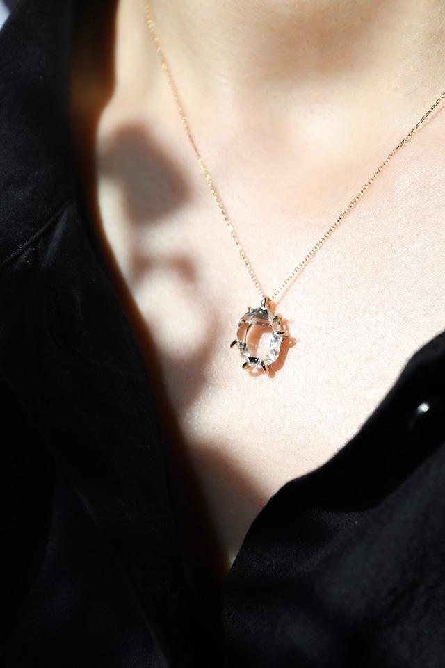 K10 Herkimer Diamond Pendant 10金ハーキマーダイヤモンドペンダント