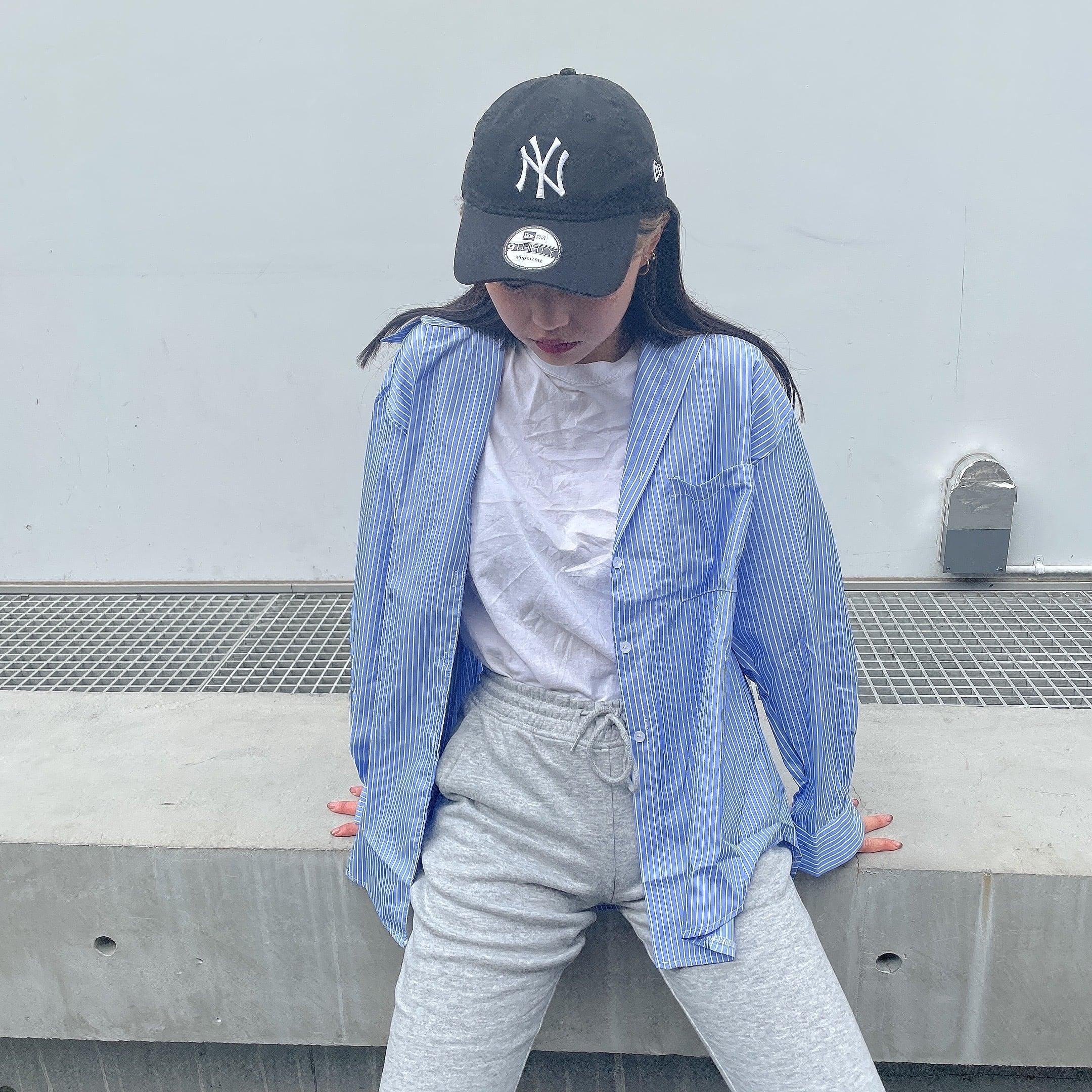 【Belle】stripe big shirt