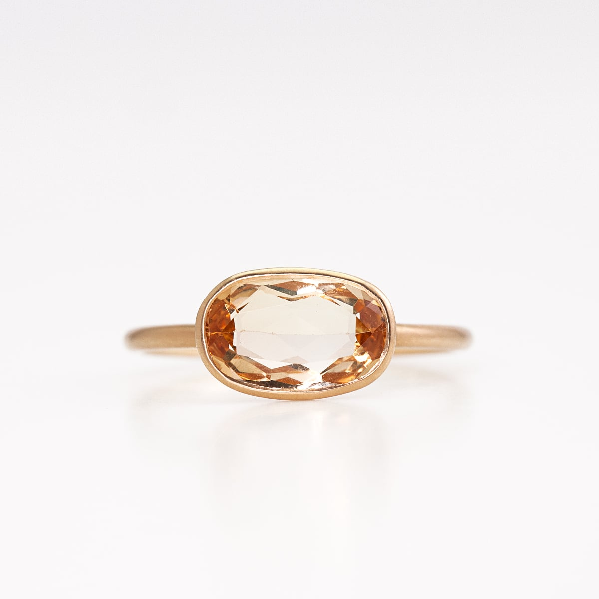 Imperial topaz ring / Oval