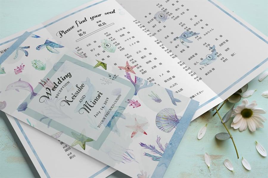 席次表 169円~/部 【Seaworld】│結婚式 ウェディング