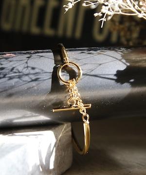 Y1810KHBG3637【YArKA/ヤーカ】silver925 close type bangle[tojir]/チェーン閉式バングル シルバー925
