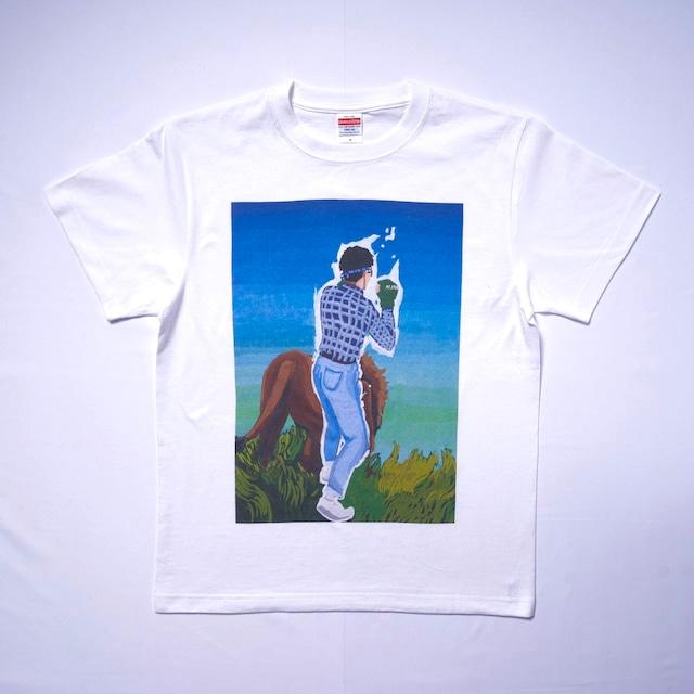 最強のオタクTシャツ.TS06 White