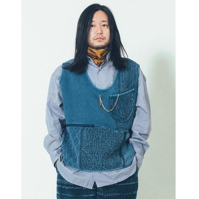 PC KENDO / PC SASHIKO PULLOVER VEST-WATCH CHAIN ITEM