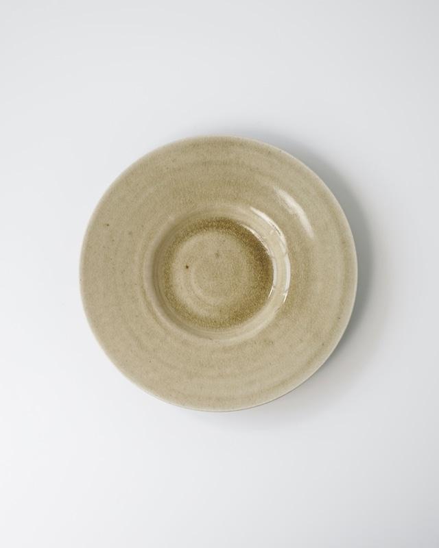 小林徹也 / 8寸リム皿 (彩白陶)