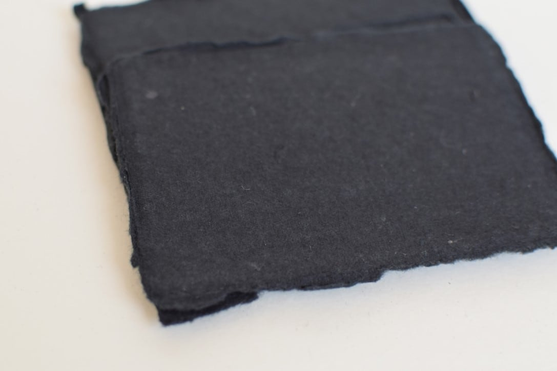"Handmade paper 2.5""x3.5""(6.3x8.9cm) 250gsm Matte Black 5枚入"