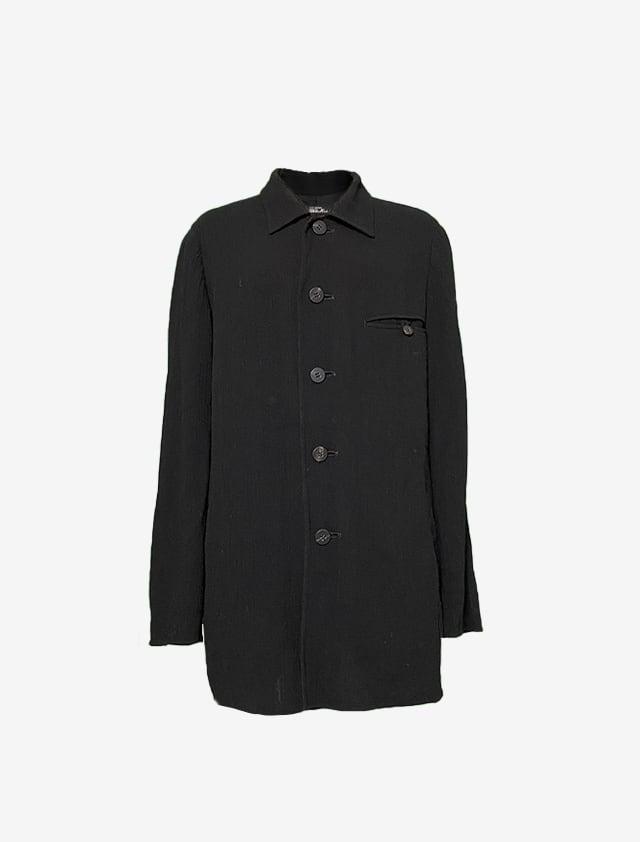 PERMANENTE ISSEY MIYAKE ペルマネンテ イッセイミヤケ ブラック シャツ胸ポケット
