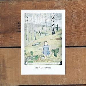 ポストカード「BLÅSIPPOR(MORS LILLA OLLE - 03)」