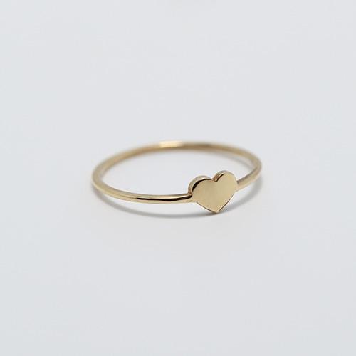 K18 Tiny Heart Ring [WM-RG804]