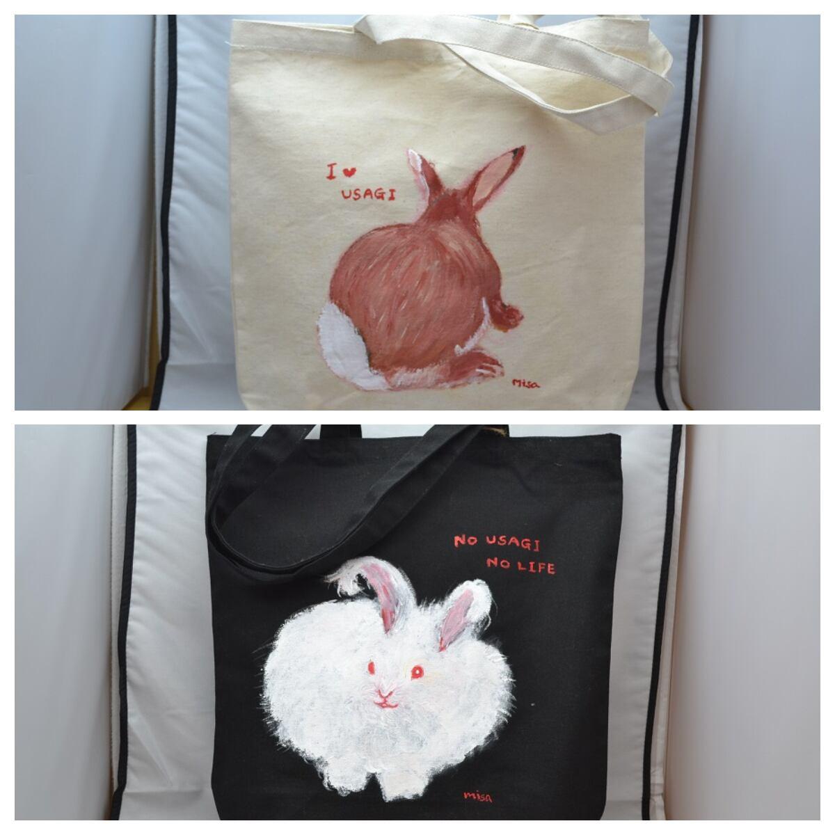 misa さんの手描きトートバッグ