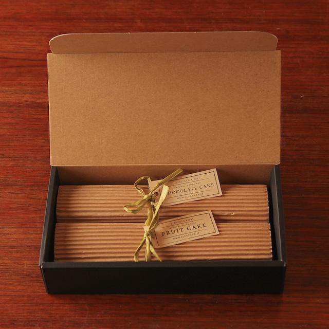 スーパーフルーツケーキ&チョコレートケーキ ギフト BOX2本セット