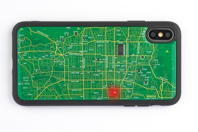 FLASH 京都回路地図 iPhone XS Maxケース 緑【東京回路線図A5クリアファイルをプレゼント】
