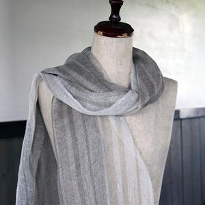 手織りリネンストール(tl79)