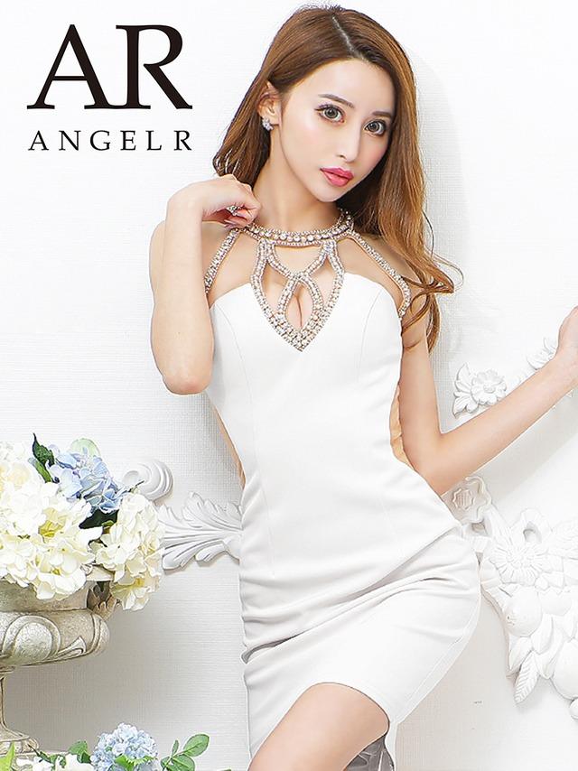 【AngelR】デコルテビジューバックシアータイトミニドレス(AR21820)